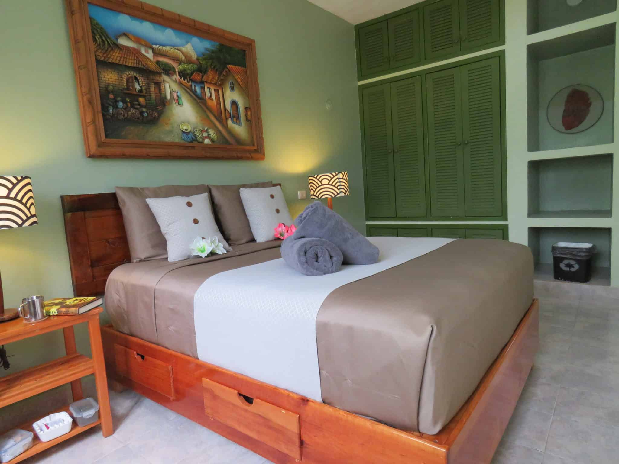 Luxury accommodations in the bedroom area, vacation rental condo in Cozumel, Mexico