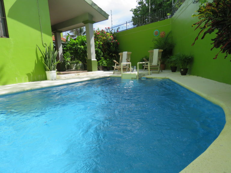 Enjoying the pool area, vacation rental condo in Cozumel, Mexico