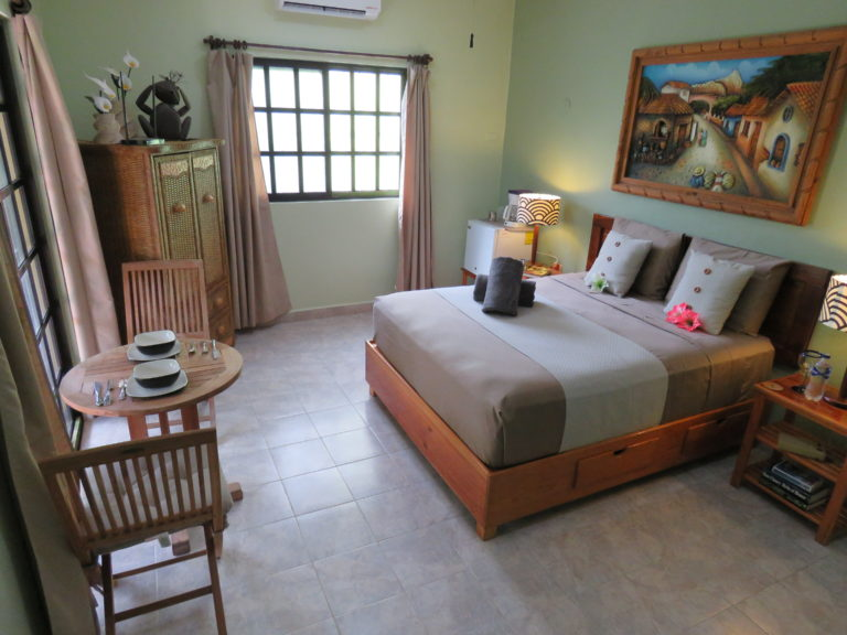 1000 thread count sheets in the bedroom area, vacation rental condo in Cozumel, Mexico