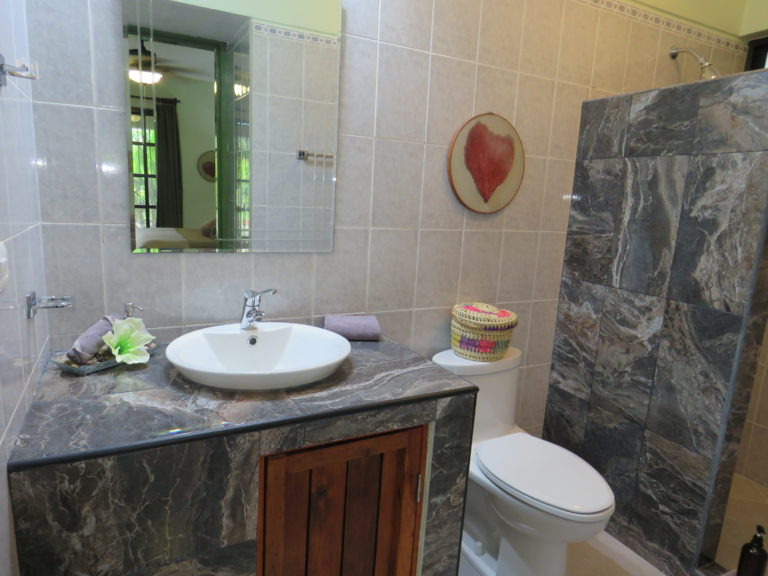 Tiled bathroom area, vacation rental condo in Cozumel, Mexico